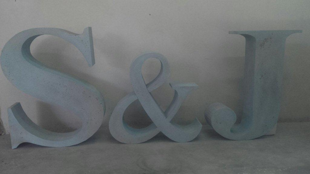 Letras personalizadas corcho blanco